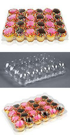Cupcake Clamshells 100 Pieces Bpa Free Clear Plastic Single