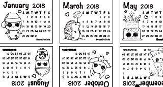 Mini 2018 Calendar Diy Diy Calendar Mini Calendars Calendar