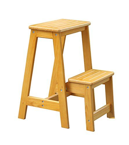 Marvelous Blwx Solid Wood Home Three Step Ladder Foldable Stair Pabps2019 Chair Design Images Pabps2019Com