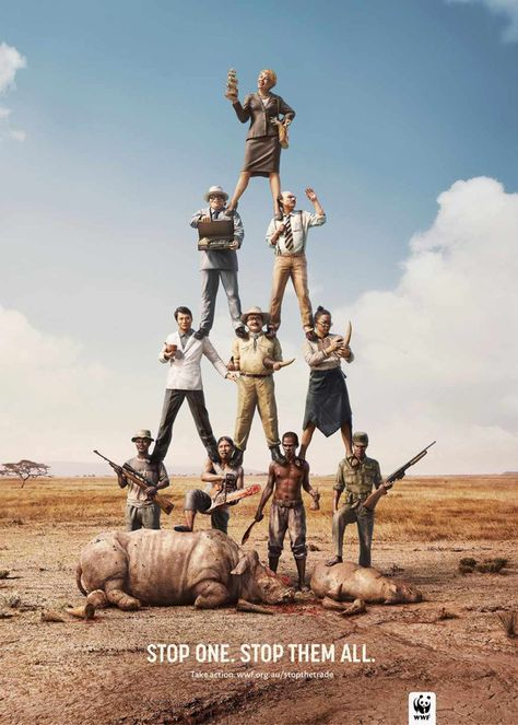 Brilliantly Clever WWF Adverts Against Poaching
