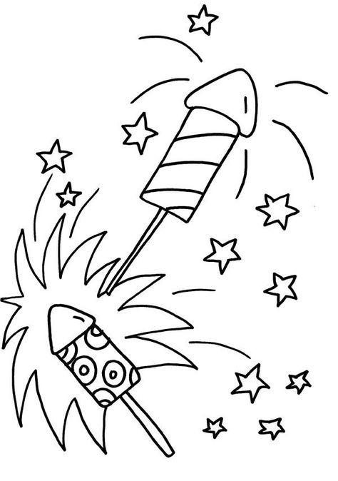 silvester raketen ausmalbilder  basteln silvester