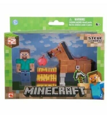 Minecraft Overworld Steve and Horse Action Figure and Accessory Set Series 2