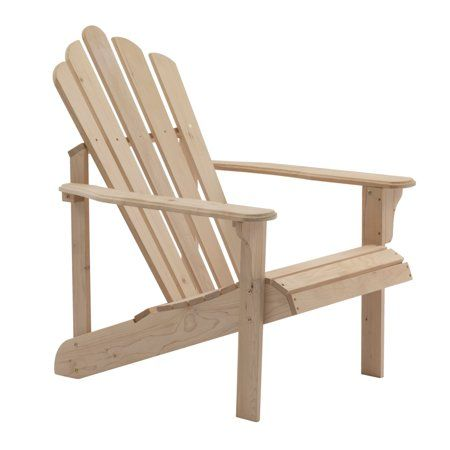 Coral Coast Hubbard Wooden Adirondack Chair Unfinished Walmart Com Wooden Adirondack Chairs Adirondack Chair Adirondack Chairs