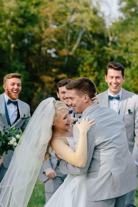 Bride and groom wedding portraits at Red Cedar Farm Wedding Venue in North Carolina #BrideAndGroomPortraits #RedCedarFarmWeddingVenue #CharlotteWeddingVenue #CharlotteWeddingPortraits #CharlotteWedding