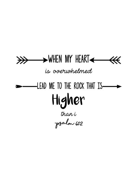 Psalm 61:2 Typography