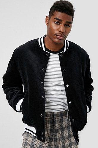 2726e7494 Corduroy Varsity Jacket | Products | Men sweater, Jackets, Fashion
