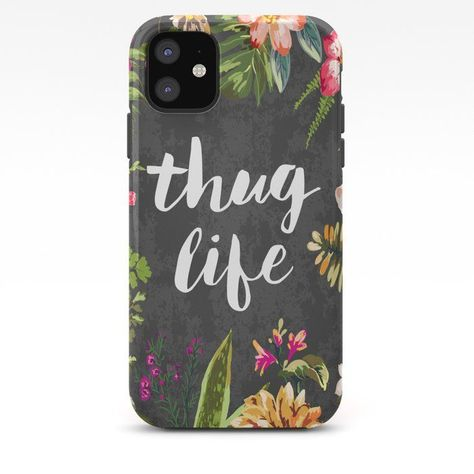 Thug Life iPhone Case by Text Guy - iPhone 11 - Tough Case -  Thug Life iPhone Case by Text Guy – iPhone 11 – Tough Case  - #case #guy #iphone #life #phonecaseaesthetic #phonecasedesign #phonecaseforguys #text #Thug #Tough