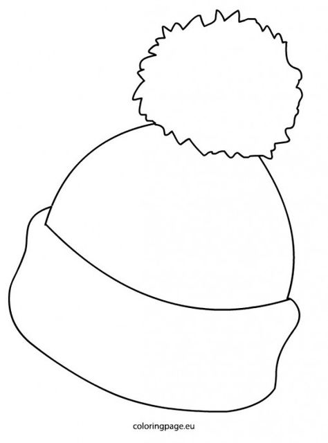 Winter Hat Coloring Pages Winter Felt Ornaments Patterns
