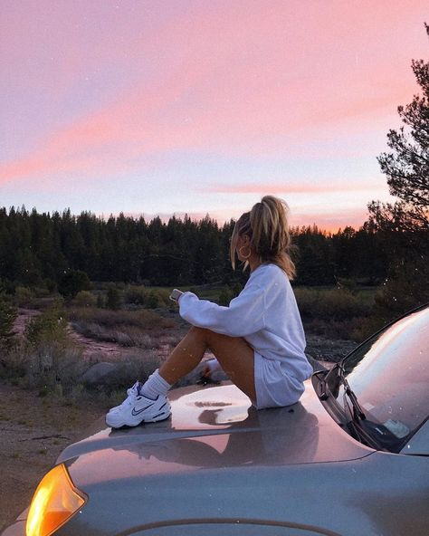 Photo by Delaney on May 23, 2020. Image may contain: one or more people, people sitting, sky, tree, shoes, cloud, car, outdoor and nature