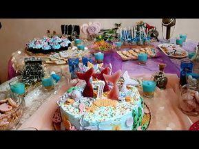تحضيرات عيد الميلاد بنتي طورطة على شكل حورية البحر و أفكار بسيطة و مبتكرة للبوفي Mermaid Birthday Youtube Mermaid Birthday Birthday Birthday Cake