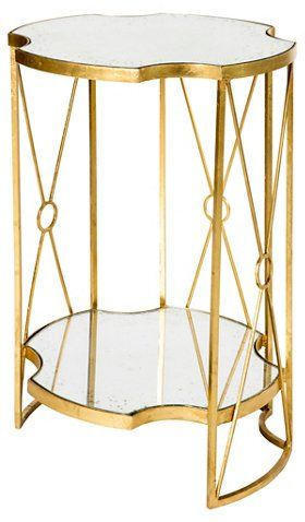 Marlene Two Tiered Side Table Gold 485 00 Side Table Living Room Side Table Table