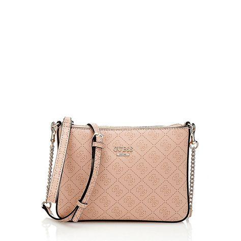 GUESS Joslyn Satchel Handtasche Umhängetasche Tasche White