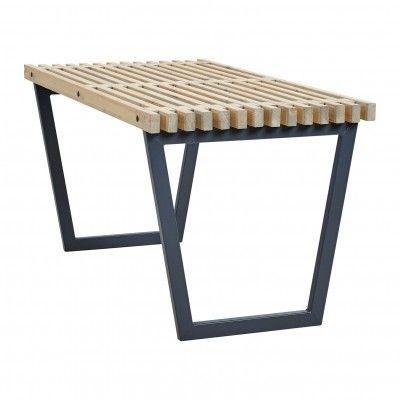 Woodinis Siesta Plus Gartentisch aus Holz-Metall 138x74x72 Garten - lounge gartenmobel gunstig
