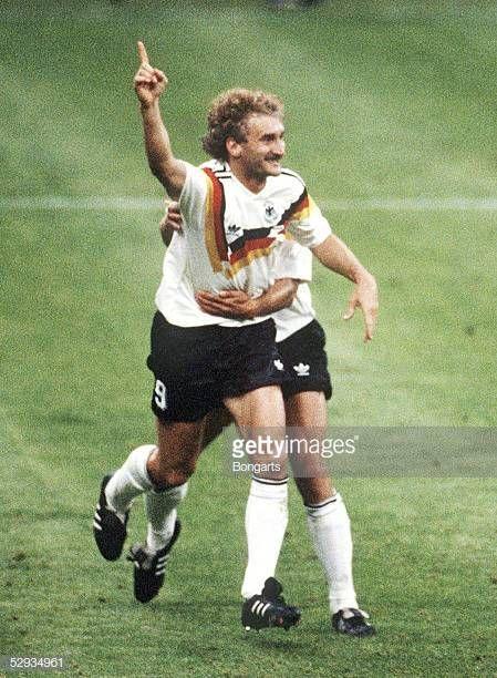 Wm 1990 In Italien Deutschland Jugoslawien 41 Jubel Rudi Voeller Ger World Football Fifa Women S World Cup National Football Teams
