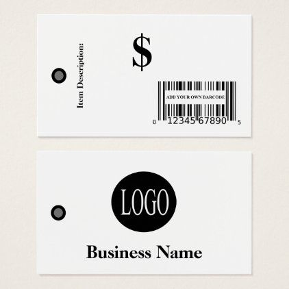 Price Tags Add Your Own Barcode Price Tag Set Zazzle Com Price Tag Printing Double Sided Retail Sales