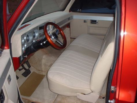 Anyone With A Red Truck And Tan Interior Truck Interior Red Truck Trucks