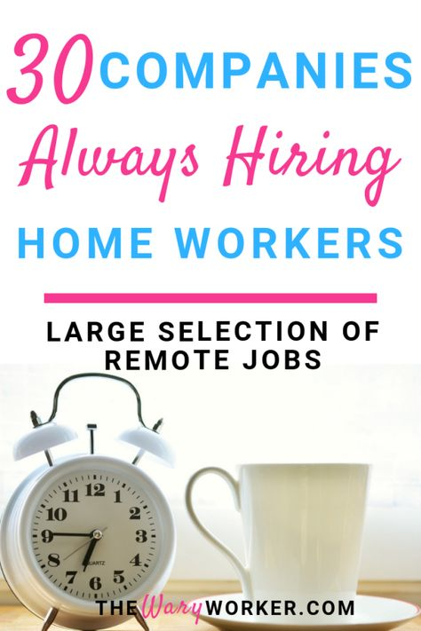 Companies That Hire Home Workers