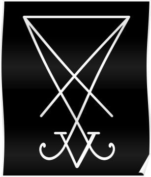 sigil of lucifer decal available In various colors and sizes