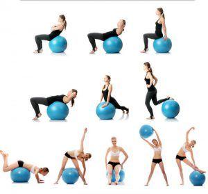 Thigh Workout With Images Yoga Ball Yoga Ball Exercises