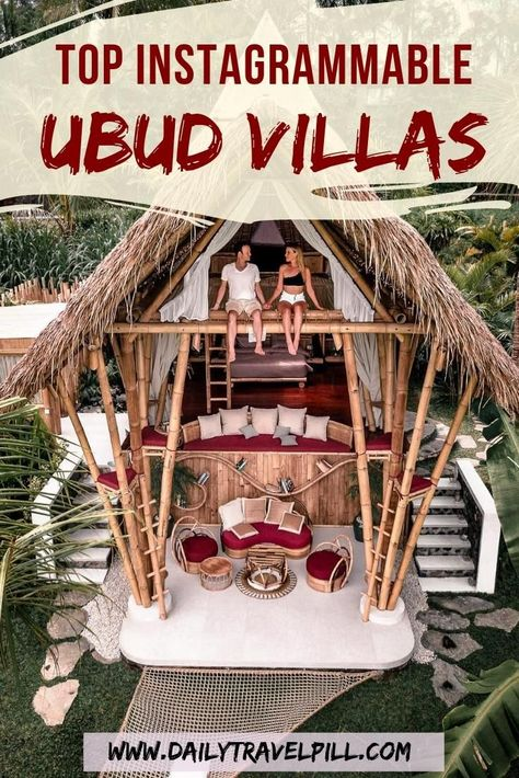 If you are looking for a unique experience, book a few nights at these spectacular Ubud villas and hotels. Check out the most Instagrammed villas in Ubud! #ubud #bali