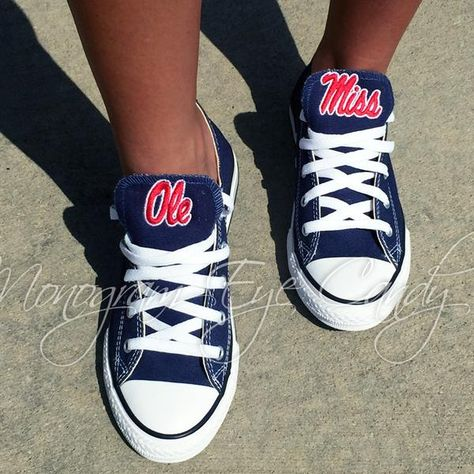 fe67403ce21c00 Customized Converse Sneakers- Ole Miss Edition