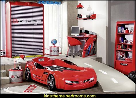 Epic Need for Sleep Garage bedroom furniture car bed garage door wardrobe Barrel Nightstand car themed bedroom furniture pok j ch opca Pinterest Car bed