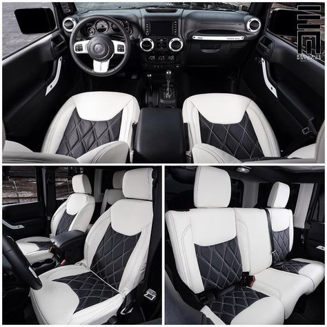 Interior Photos Of The Jeep Wrangler Featuring Custom Two Tone