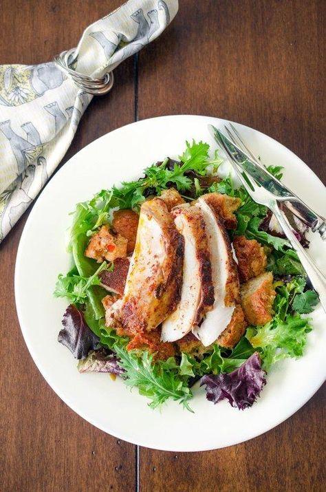 #Recipe: Zuni-Style Tandoori Roast Chicken With Masala Bread Salad