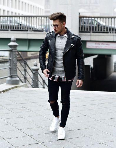 Pin von Venla Karkimaa auf fellas | Lederjacke outfits