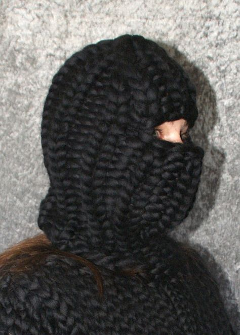 Balaclava thick knit chunky merino sheep wool with and without openings hat cap for men hand knitted by Strickolino