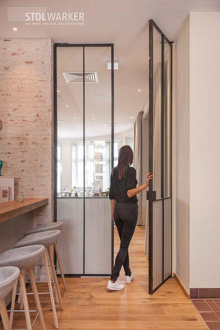 Stahl Glas Turen Stahl Loft Turen Stahltreppe Design Treppen Design Glastur Wohnzimmer