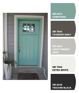 Exterior paint colors by Sherwin Williams: dovetail, Greek villa and ...