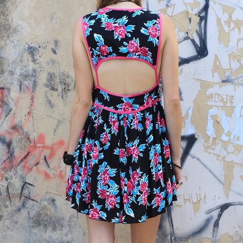 NEW Open Back Baby Doll Dress Night Flower Print New without tags! Price negotiable. NO TRADES! ASOS Dresses