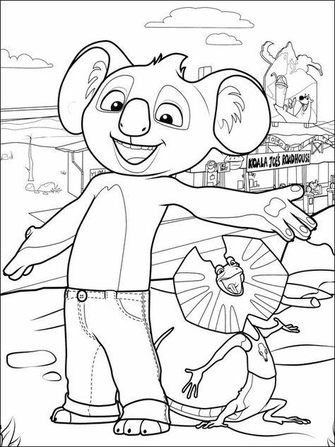 blinky bill 9 ausmalbilder für kinder malvorlagen zum