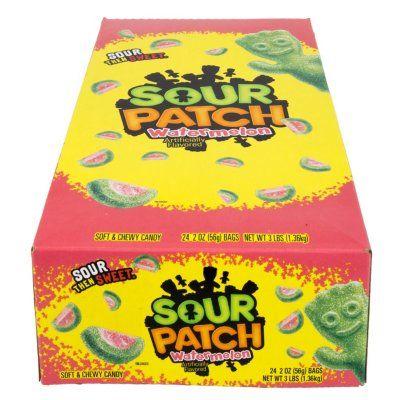 Sour Patch Kids Watermelon Soft Chewy Candy 2 Oz 24 Pk Sam S Club Sour Patch Watermelon Chewy Candy Sour Patch