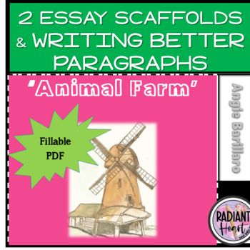 Animal Farm 2 Essay Scaffold Writing Better Paragraph Fillable Pdf Digital Scaffolded Teaching High School English Topic