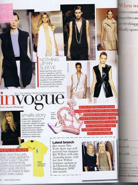 DESIGN PRACTICE. : PRIMARY RESEARCH - VOGUE INT'L LAYOUTS