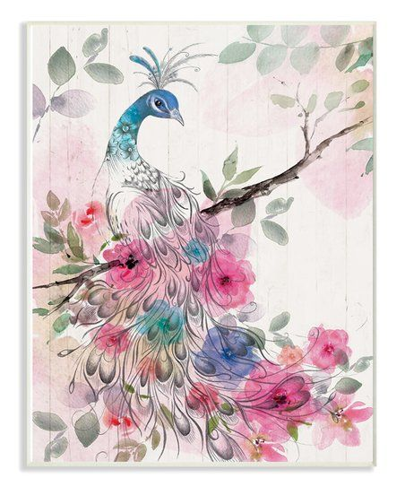 The Stupell Home Decor Collection Birds with Flowers DIY Coloring Wall Plaque