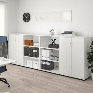 Galant Combinaison De Rangement Blanc 320x120 Cm Ikea En 2020 Meuble Rangement Rangement Meuble Rangement Bureau