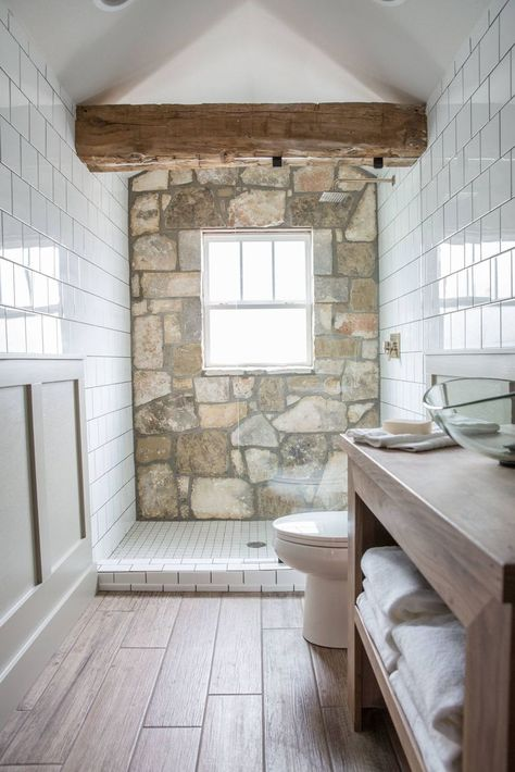 Fixer Upper Bathroom before and afters Pins I Love. Basement Bathroom Ideas Bud Low Ceiling and for Small Space. 100 Best Bathrooms Images In Episode 15 the Giraffe House In 2019 Baths Natural Stone Wall, Natural Stone Bathroom, Small Bathroom, Bathroom Ideas, Gold Bathroom, Marble Bathrooms, Basement Bathroom, Bathroom Fixer Upper, Nature Bathroom