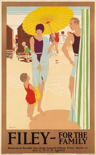 Life Is Better at the Beach Art Deco Railway Poster Blank Birthday Card