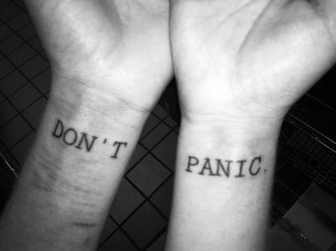 literarytattoos: Hitchhiker's Guide to the Galaxy.