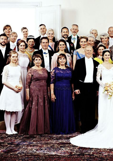 Wedding party of Prince Carl Philip and Princess Sofia. June 13th 2015