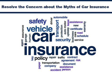 Resolve The Concern About The Myths Of Car Insurance Affordable