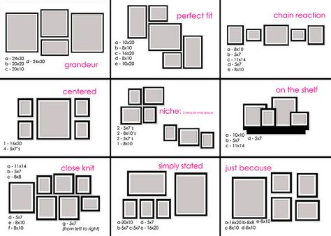 Photo layout diagrams. Helpful.