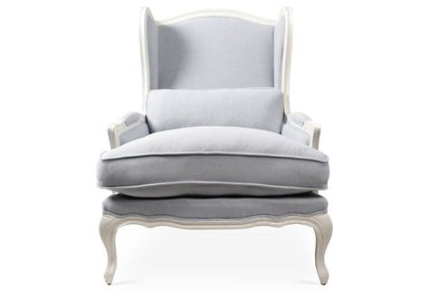 Prime Bardot Bergere Chair Blue Gray Linen Some Day Dreamin Machost Co Dining Chair Design Ideas Machostcouk