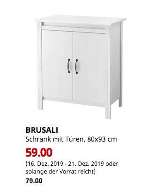 Ikea Chemnitz Brusali Schrank Mit Turen Weiss 80x93 Cm Schrank Schrankturen Schliessfacher
