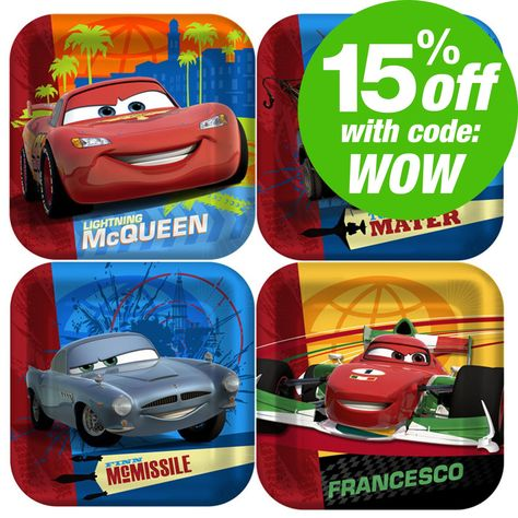 Shop for Disney Cars party supplies, birthday decorations, and party favors.