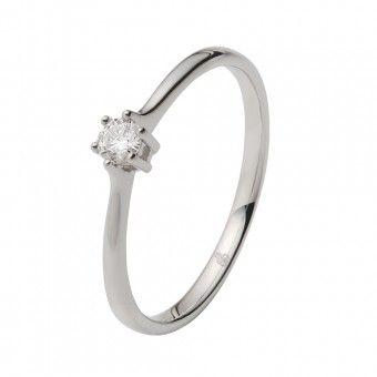 Rosegold Weißgold Ring Damenring 375 Gold Diamanten Brillant Verlobungsring