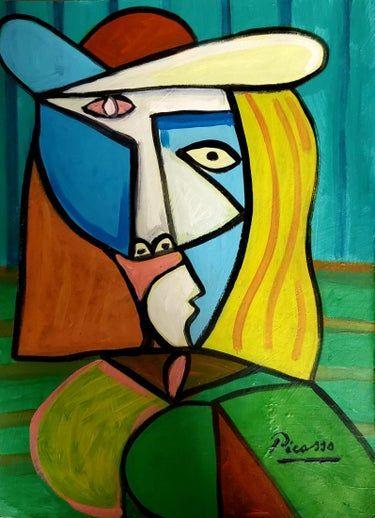 Pablo Picasso Cubism Women Spanish Hand Painted Signed Pablo Picasso Art Pablo Picasso Paintings Pablo Picasso Cubism
